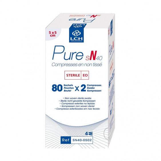 Compresses en non tissé stériles 40g PURE SN