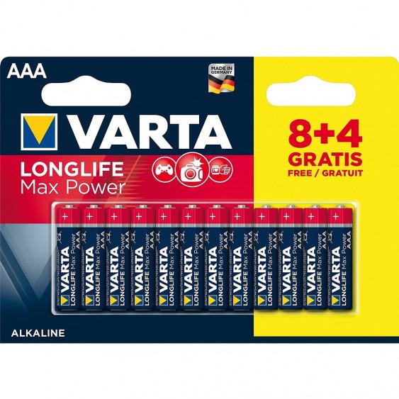 PILES VARTA LONGLIFEMAXPOWER AAA/LR3 8+4