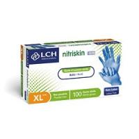 Gants nitrile non poudrés Nitriskin Blue Evolution Free XL 9/10 - Boîte de 100