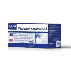 Masque Aérokyn type II avec lacets - Boîte de 50