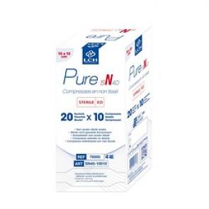 Compresses Non tissées Stériles Pure N30 - 10cmx10cm - LCH - Boite de 250